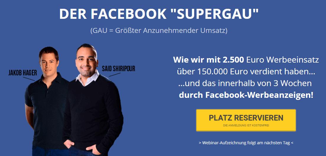 Facebook Meisterkurs von Said Shiripour und Jakob Hager - Facebook Werbeanzeigen profitabel schalten