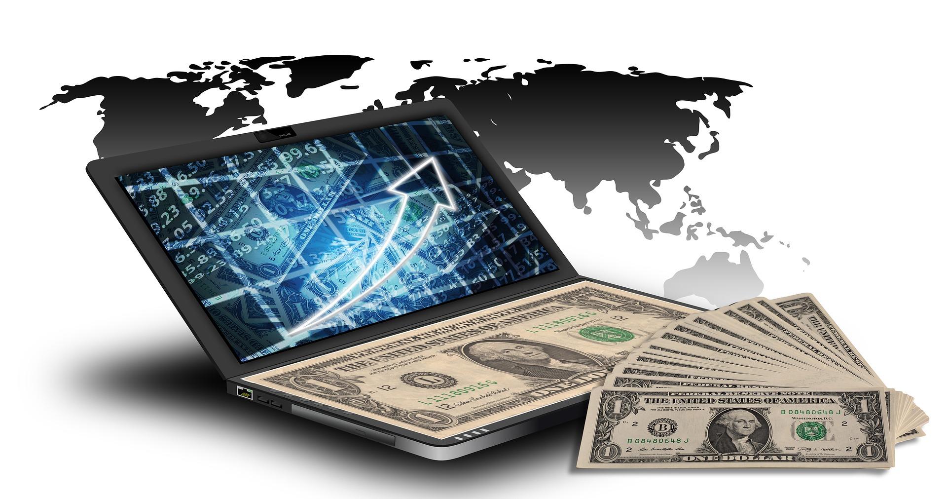Laptop Dollar - online geld verdienen, schnell geld verdienen, arbeiten von zu hause