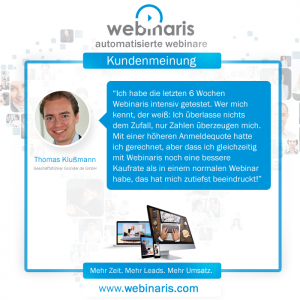 Webinaris - Die deutsche Webinar Software - Erfahrungen / Test / Review