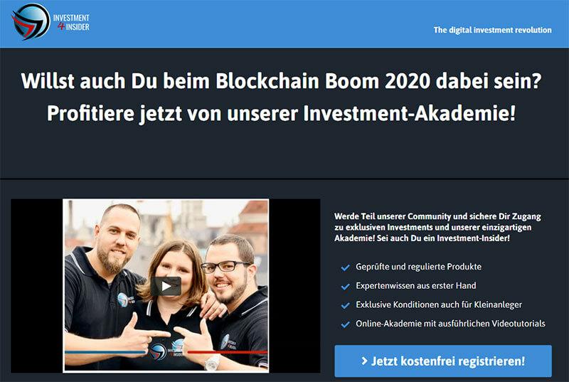 Investment4Insider Blockchain Boom 2020